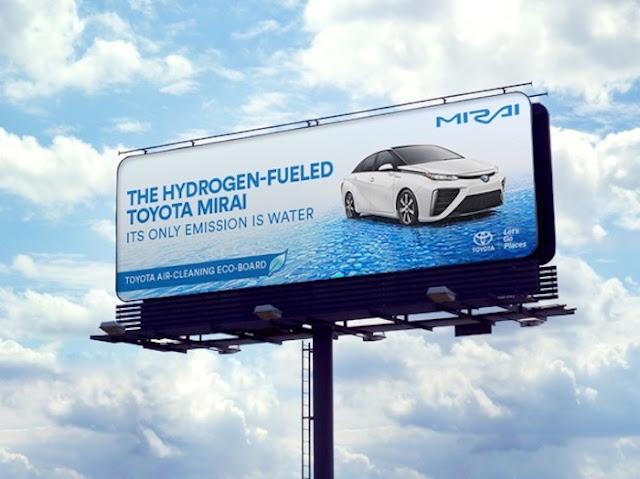 Toyota crea una valla publicitaria ecologica que purifica el aire