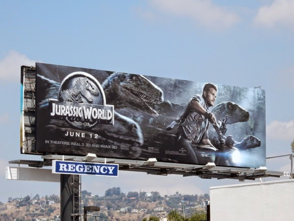 Jurassic World movie billboard