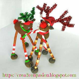 Renos-modelados-pasta-ligera-para-Navidad-Crea2-con-Pasión
