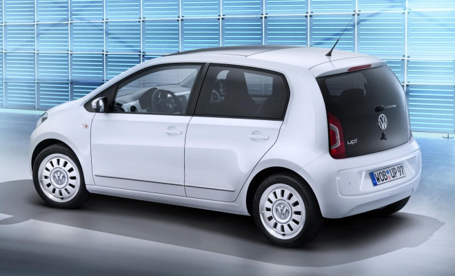 VW Up 5-door from the side-rear