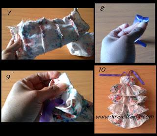 Tutorial cara membuat baju boneka model rok rempel tumpuk 2