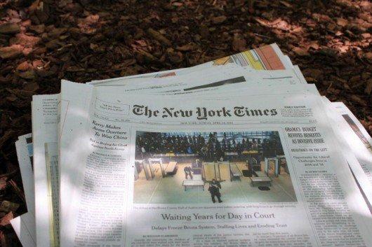El periódico como Herbicida ecológico