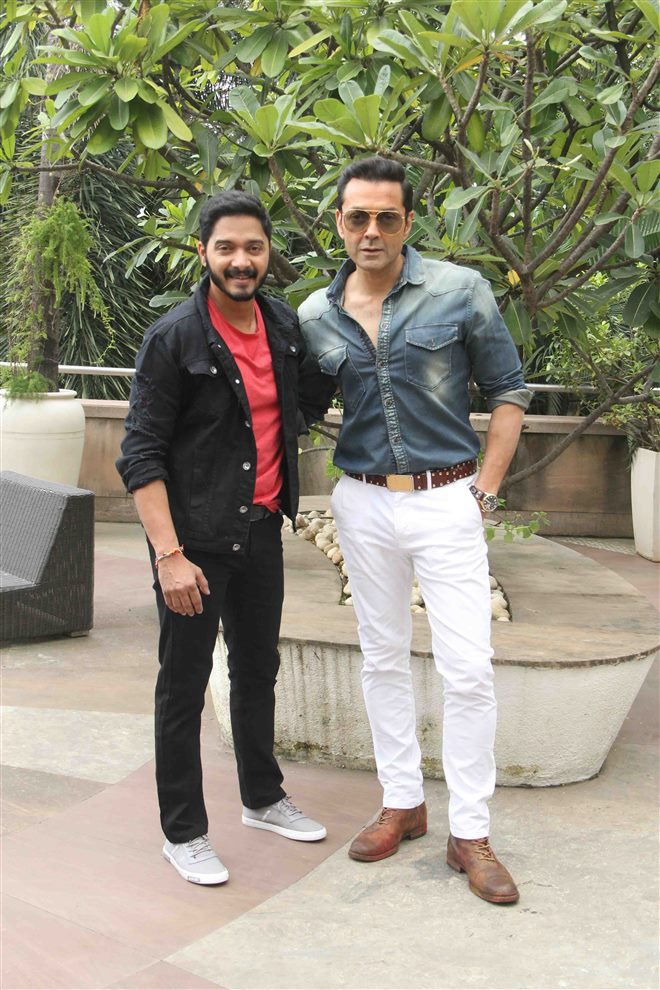 Shreyas Talpade & Bobby Deol at Poster Boys Promotion In Mumbai