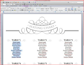 wedding seating plan template excel