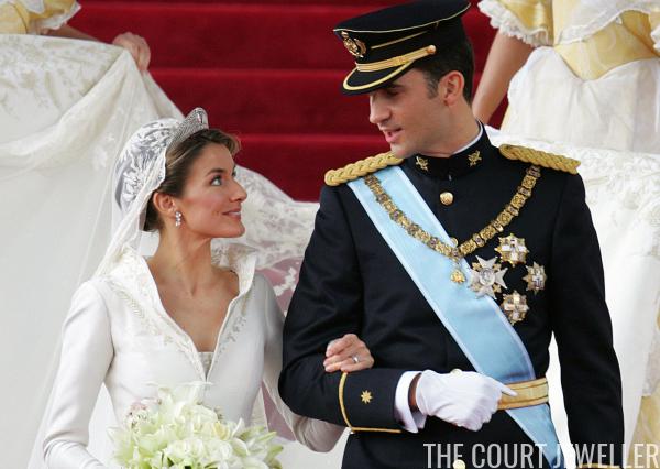 Queen Letizia\'s Wedding Jewels | The Court Jeweller