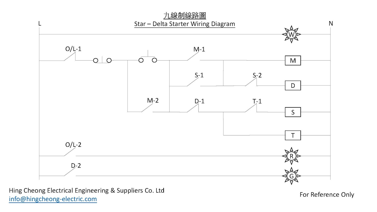 star delta wiring diagram motor 1998 dodge dakota 興昌電機 hing cheong electric starter