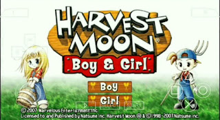 Harvest Moon Boy And Girl ISO PPSSPP AND SAVEDATA