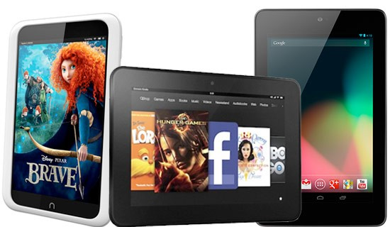 NEXUS 7 VS KINDLE FIRE HD VS NOOK HD TABLET COMPARISON REVIEW