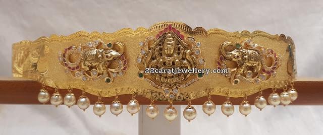 Elephant Design Lakshmi Vaddanam