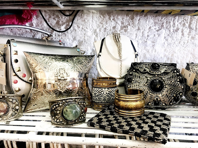 silver purses and jewellery
