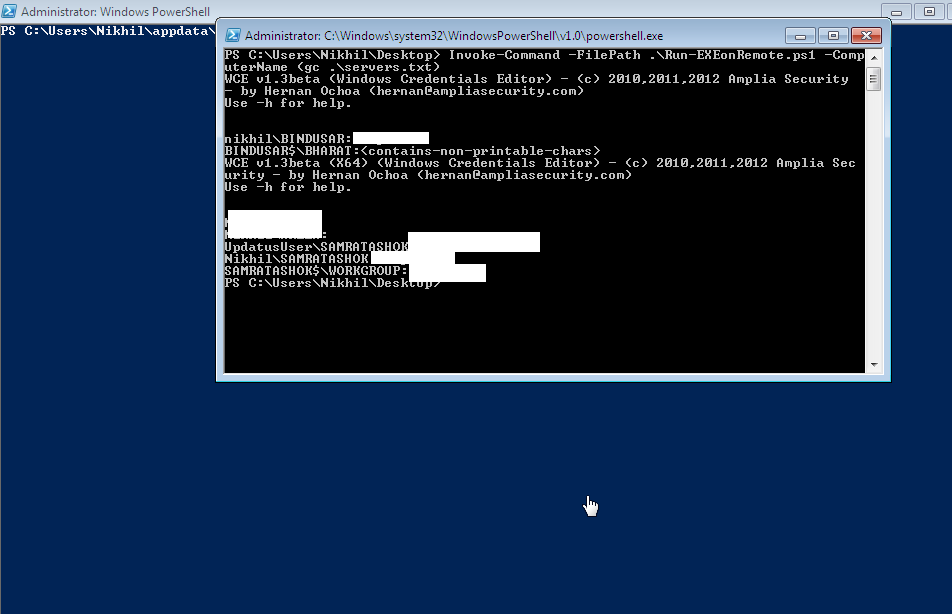 Lab of a Penetration Tester: Poshing the hashes: Using