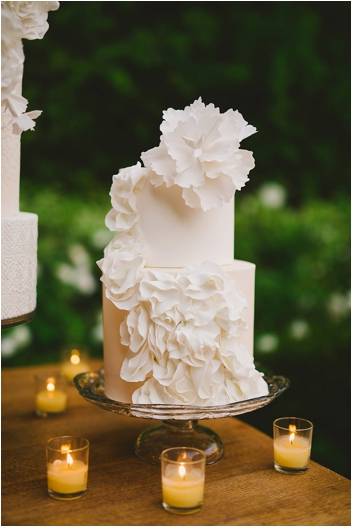 Elegant Spanish flamenco inspired wedding cake by RooneyGirl BakeShop