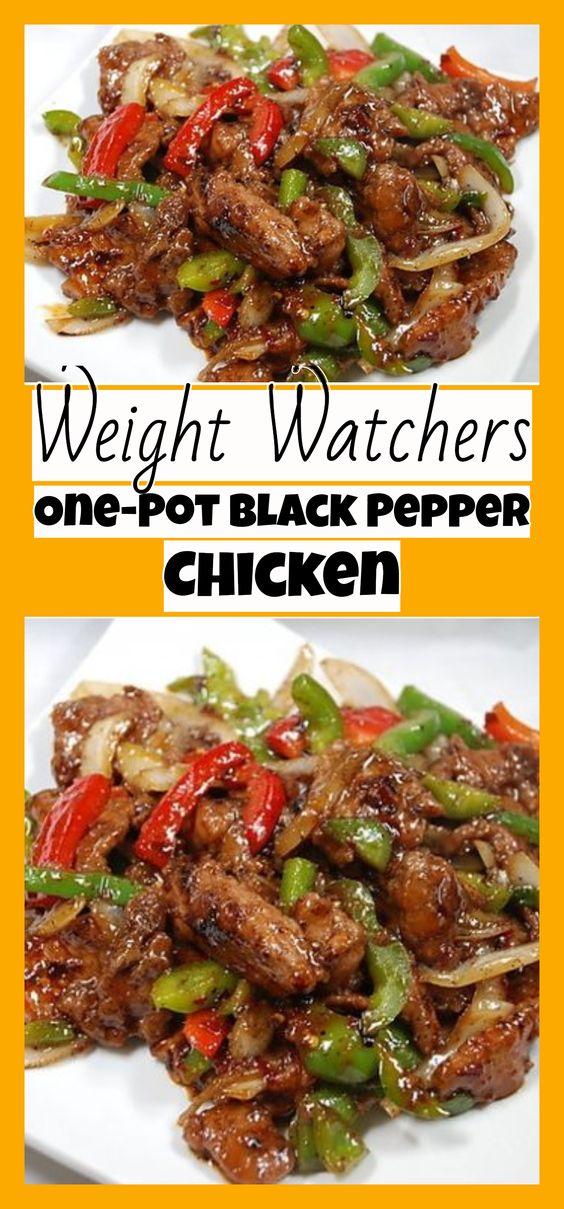 One-Pot Black Pepper Chicken #onepot #blackpepper #chicken #chickenrecipes #dinner #dinnerrecipes