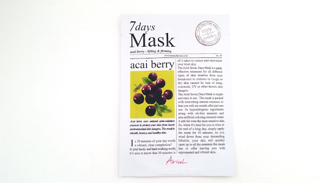 Ariul 7Days Mask - Acai Berry