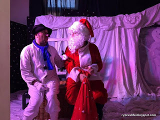The Snowman and Santa Claus in the Little Muse production in Larnaca, Cyprus