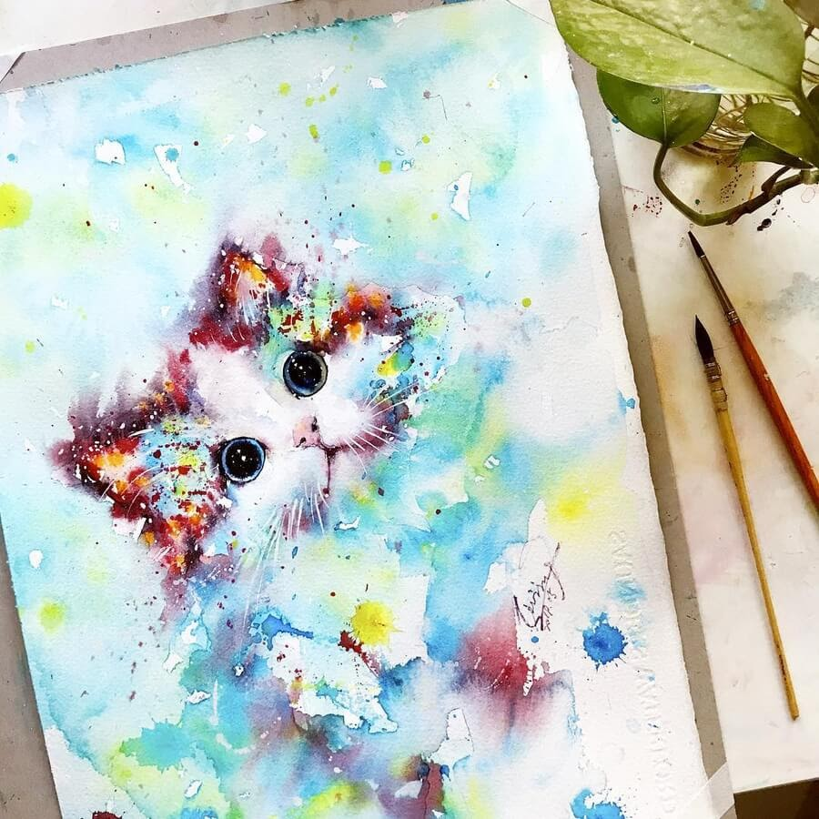 09-Cat-Watercolor-Paintings-liviing-www-designstack-co
