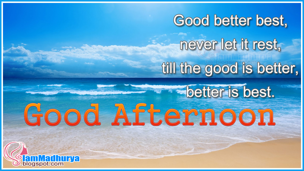 English Good Afternoon Inspiring Messages Greetings Wishes