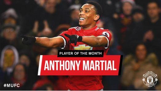 Manchester United: Anthony Martial Pemain Terbaik Januari 2018