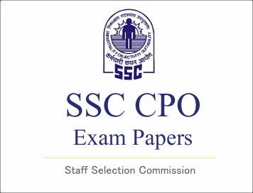 SSC CPO PREVIOUS YEAR EXAM PAPER SET