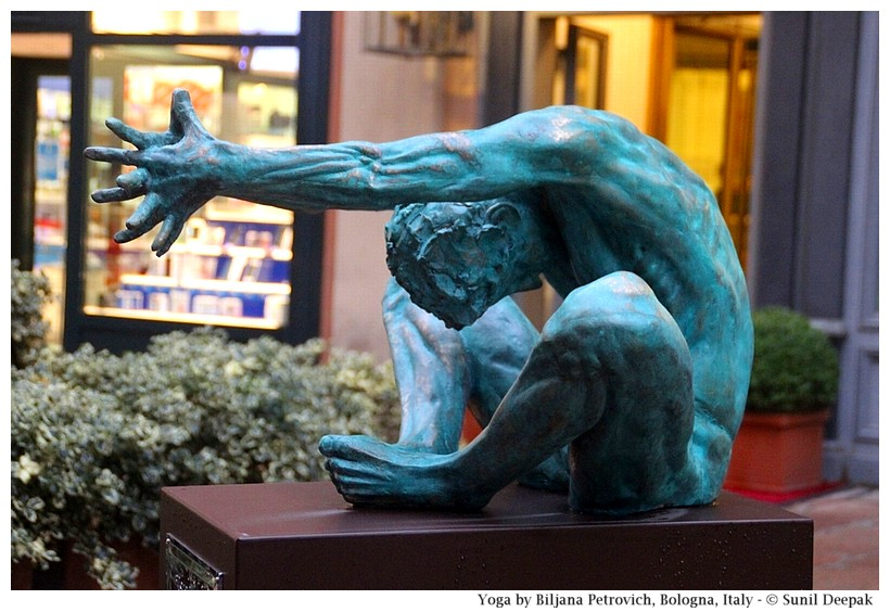 Sculptures of gymnastics and yoga - Bologna, Italy - Images by Sunil Deepak