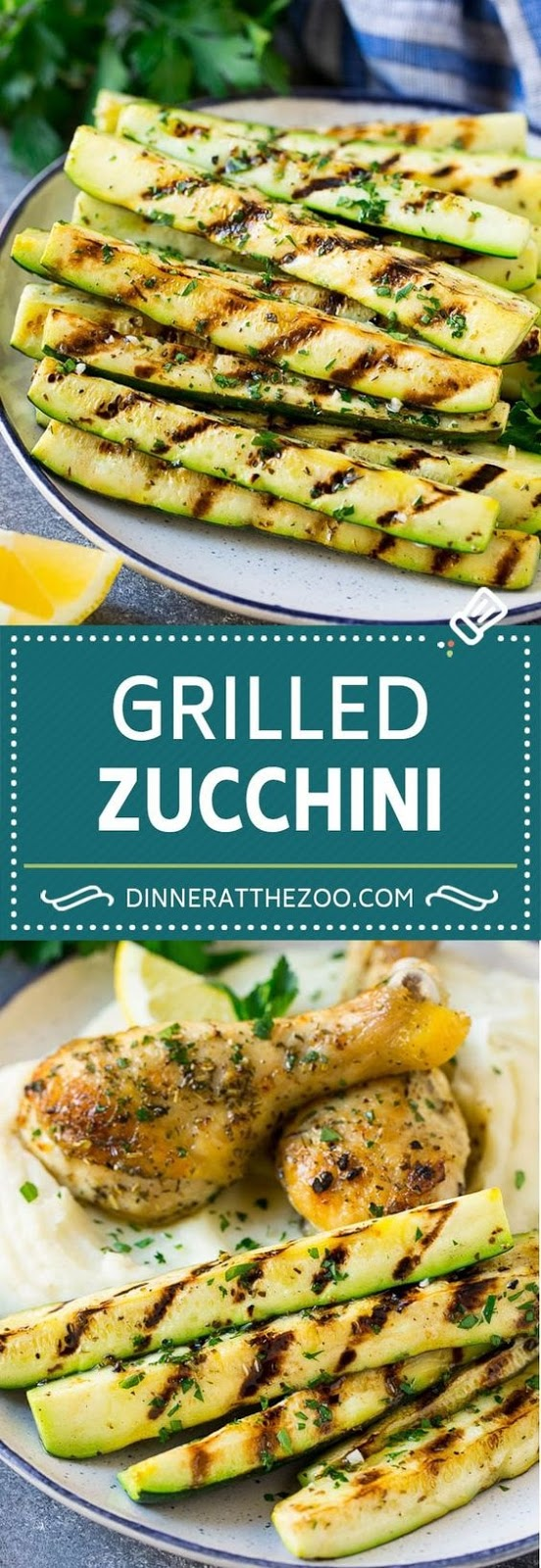 Grilled Zucchini With Garlic And Herbs