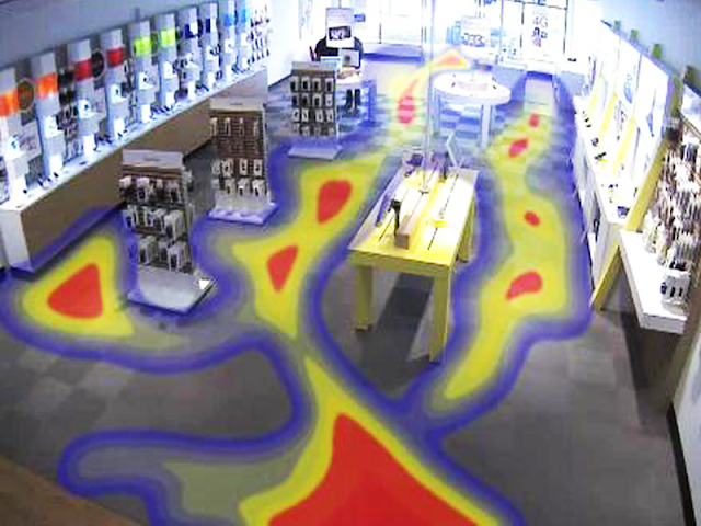 Retail store heat map