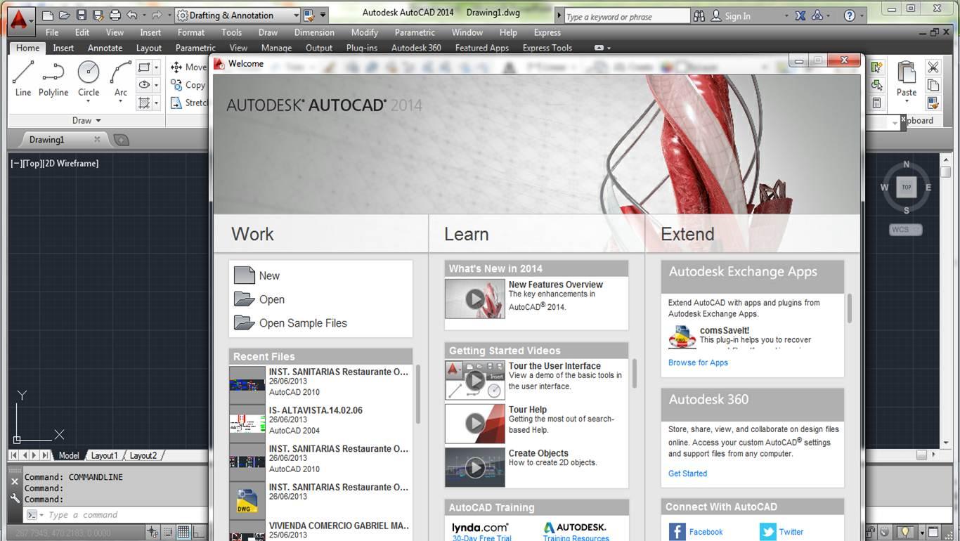 Todo windows free descargar autocad 2014 ingles for Bajar autocad