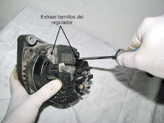 alternador Valeo 436193 desmontaje regulador de tensión y escobillas