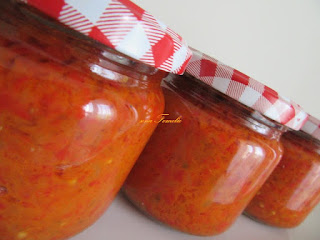 """Ajvar"" ( chutney ) from my mother's notebook"