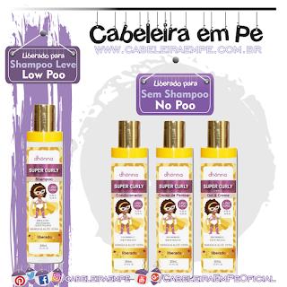 Shampoo (Low Poo), Condicionador (No Poo), Creme para Pentear (No Poo)  e Gel Creme Infantil (No Poo) Super Curly - Dhönna