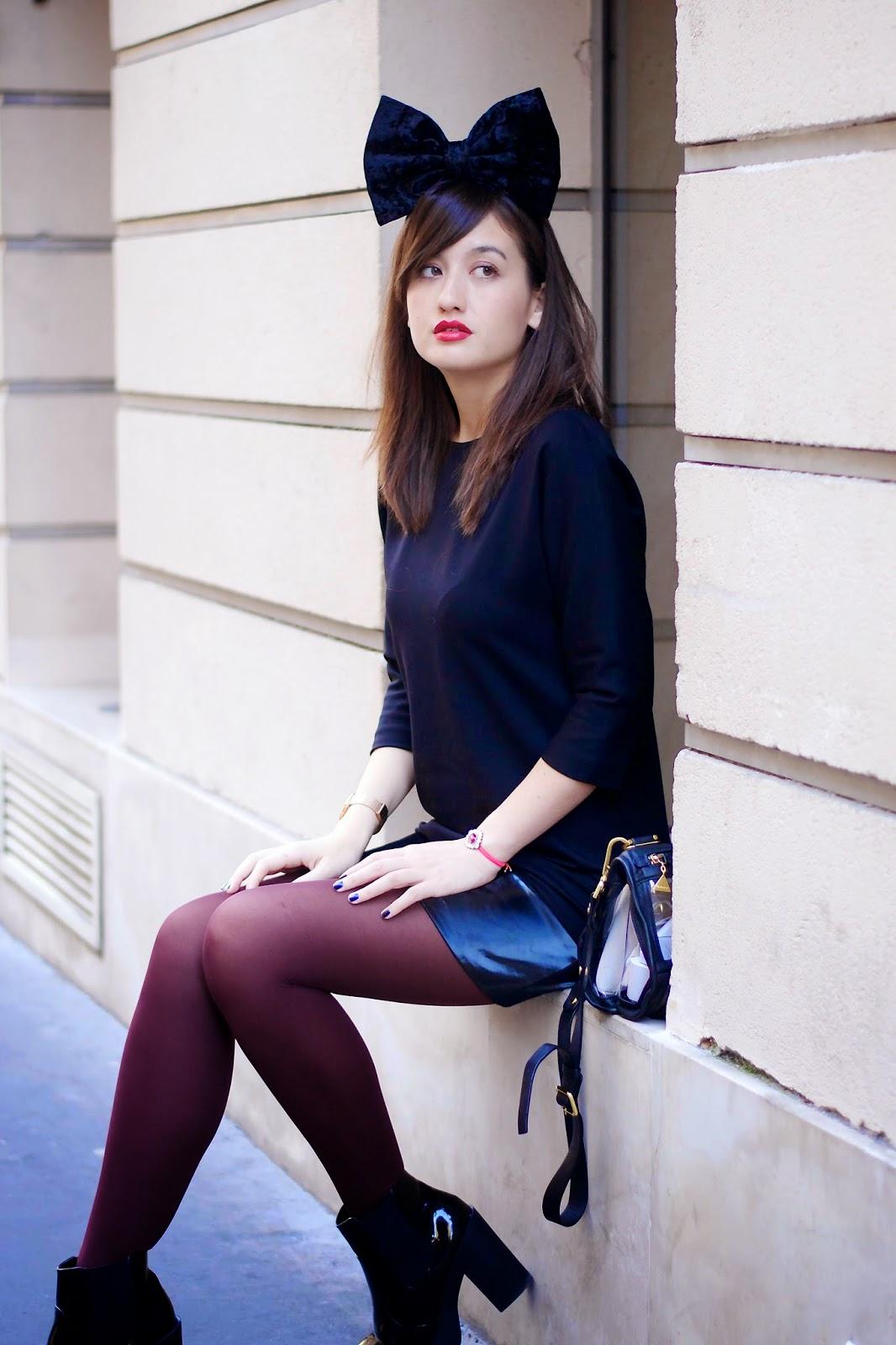 紫色紧身裤