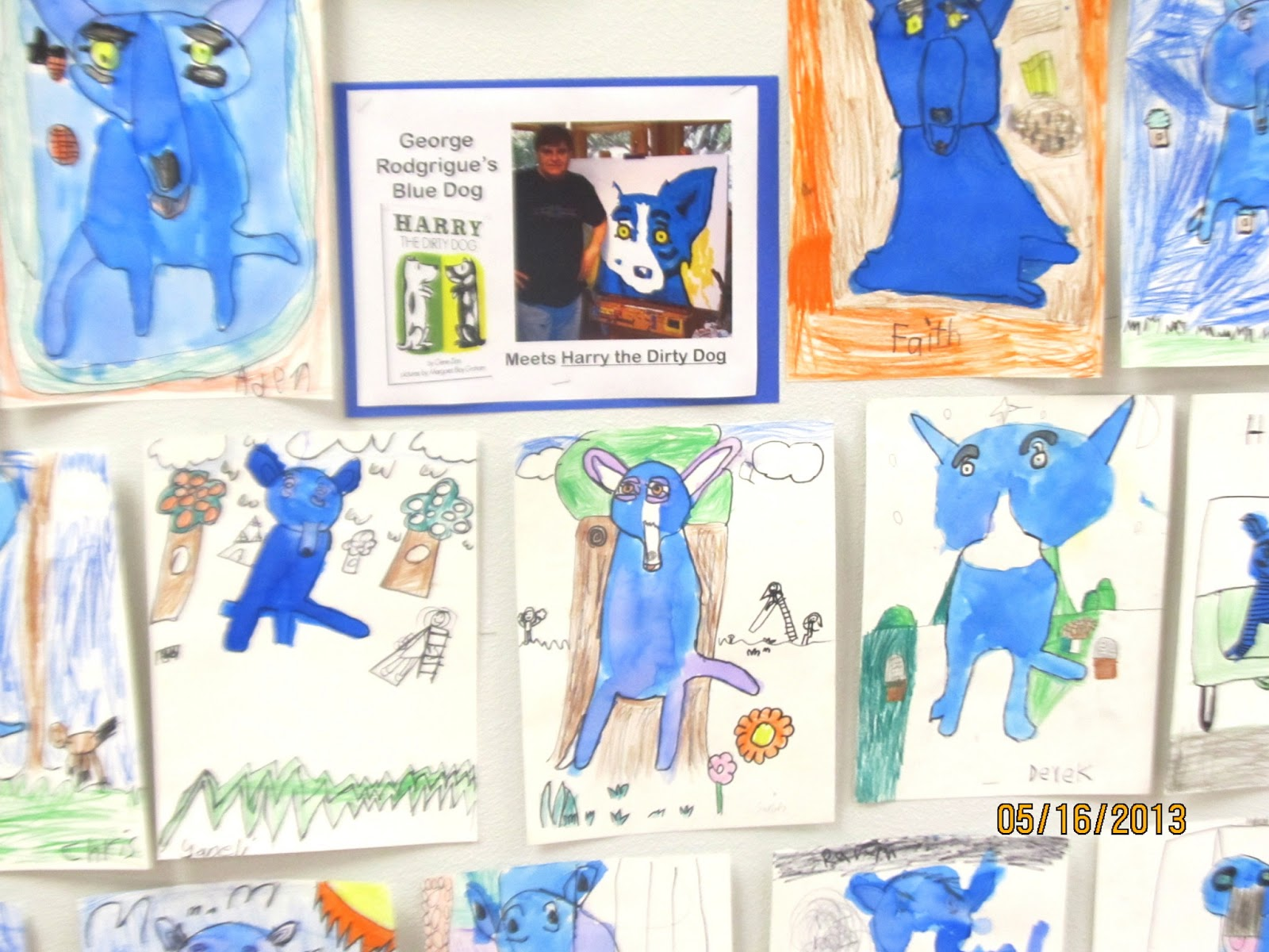 Art Julz George Rodrigue S Blue Dog Harry The Dirty Dog