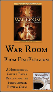 War Room DVD (From FishFlix.com - A Schoolhouse Crew Review) on Homeschool Coffee Break @ kympossibleblog.blogspot.com
