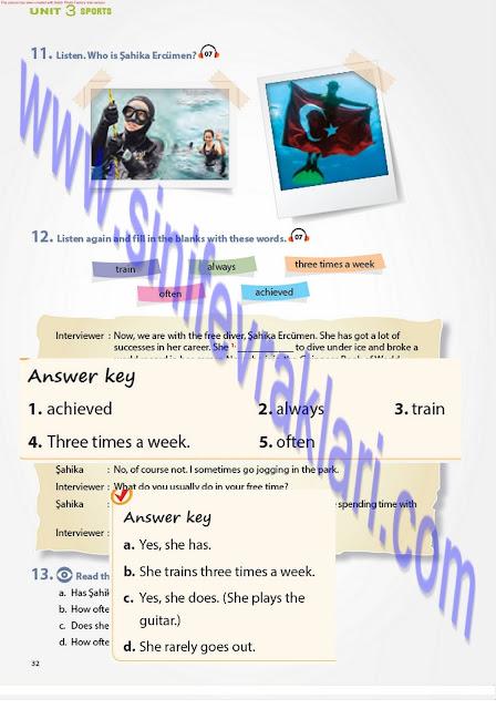 7. Sınıf Pantera Yayınları İngilizce Ders Kitabı Cevapları Sayfa 32