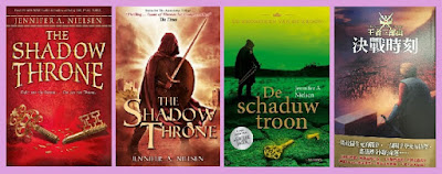 Portadas del libro The shadow throne de Jennifer A. Nielsen