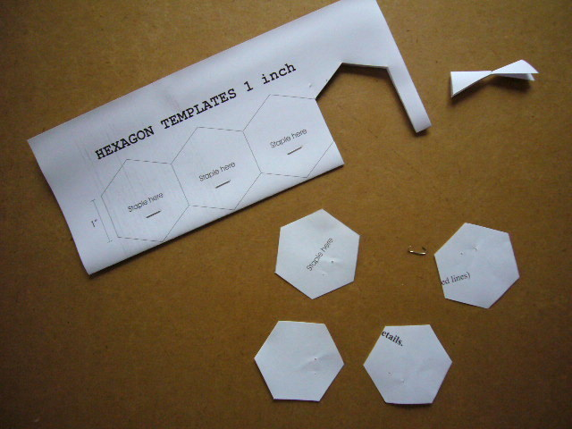 3patchcrafts hexagon template for english paper piecing for Free english paper piecing hexagon templates