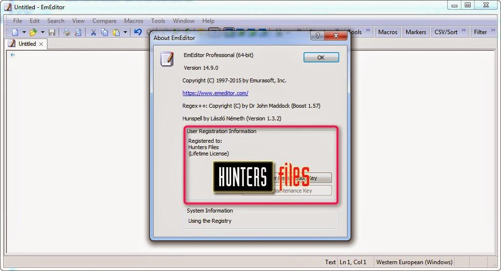 Emurasoft EmEditor Professional 14 9 0 Full Serial Key