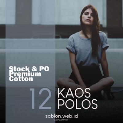 Kaos Polos Cotton Combed 30s Premium