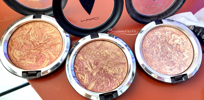 MAC star trek Trip the Light Fantastic powder strange new worlds highly illogical luna luster swatch pictures
