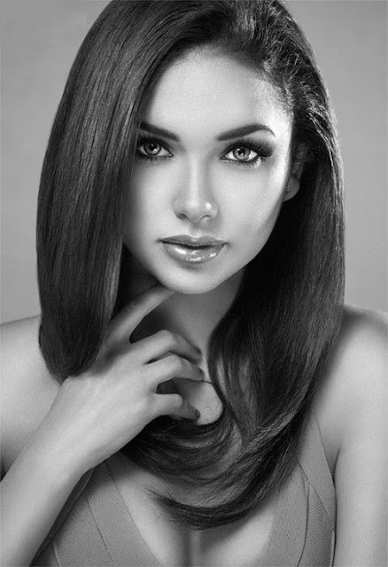 bonita mulher preto e branco