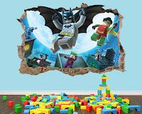 Vinilos de super héroes para decorar la habitación de los niños LA LIGA DE LA JUSTICIA LEGO