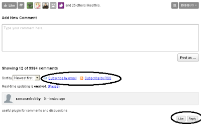 Disqus Comments System screenshot