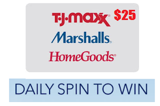 does homegoods have coupons tj maxx marshalls and homegoods 25 gift card instant win 10792