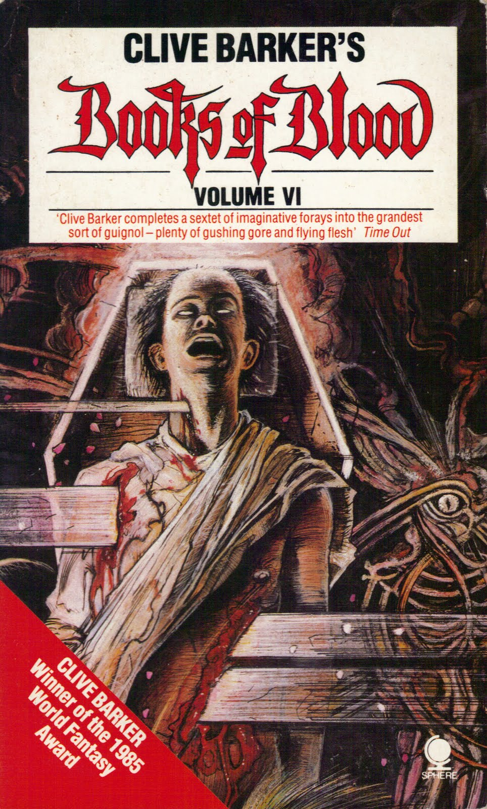 blood books clive barker volume fiction vol death horror sphere six 1989 too much children