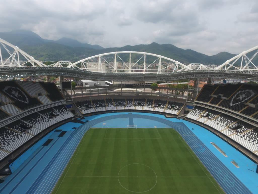 O estádio Nilton Santos, antigo Engenhão, foi todo remodelado pelo Botafogo (Foto:Divulgação Instagram @diariomxm)
