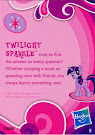 My Little Pony Pony Collection Set Twilight Sparkle Blind Bag Card