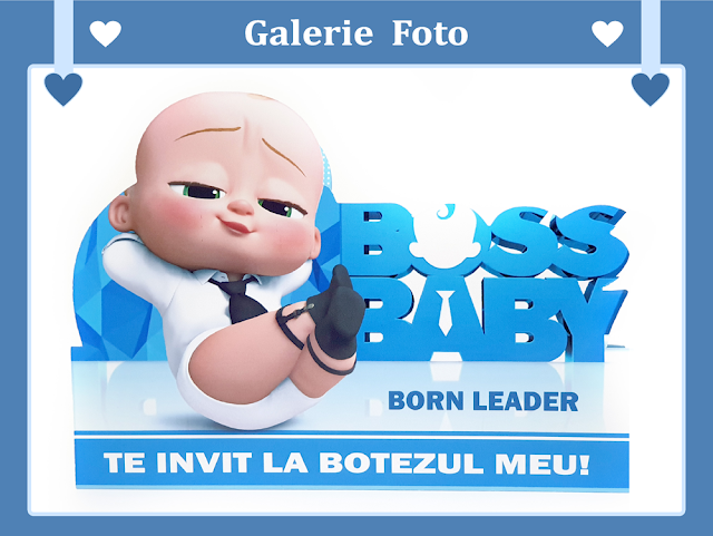 invitatii botez baby boss