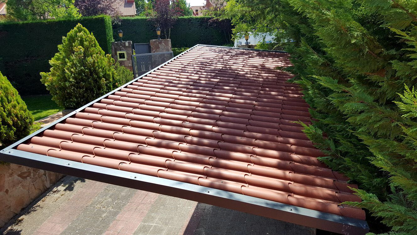 fabricacin y montaje estructuras metlicas y cubiertas para prgolas de chapa o panel - Techos Para Pergolas