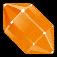 鉱石のイラスト(オレンジ)