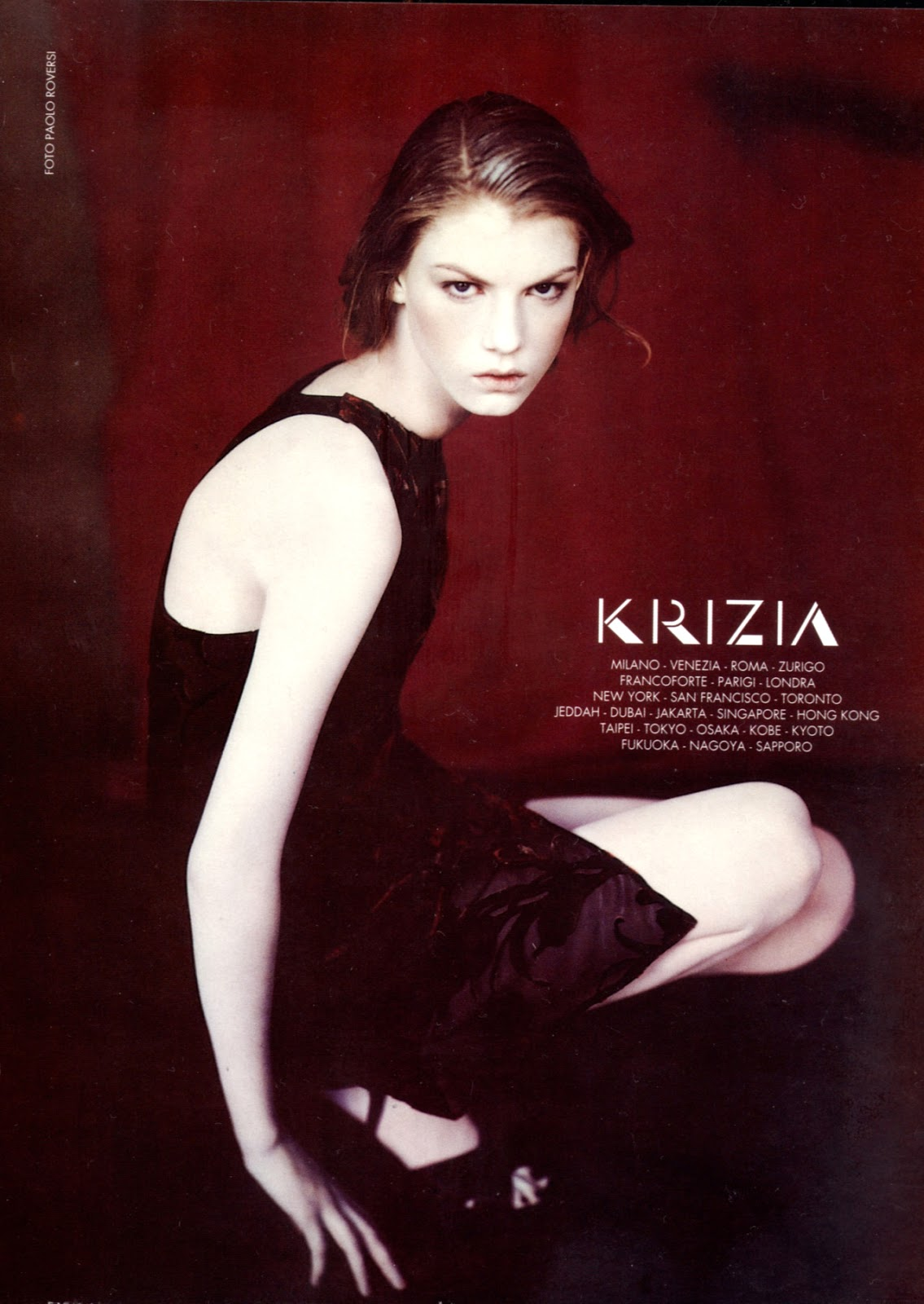 Angela Lindvall photographed by Paolo Roversi for Krizia Fall/Winter 1997 campaign as featured in Vogue Italia 1997 / Fashion designer biography, trivia, facts and collection of Krizia Mariuccia Mandelli via www.fashionedbylove.co.uk British fashion blog